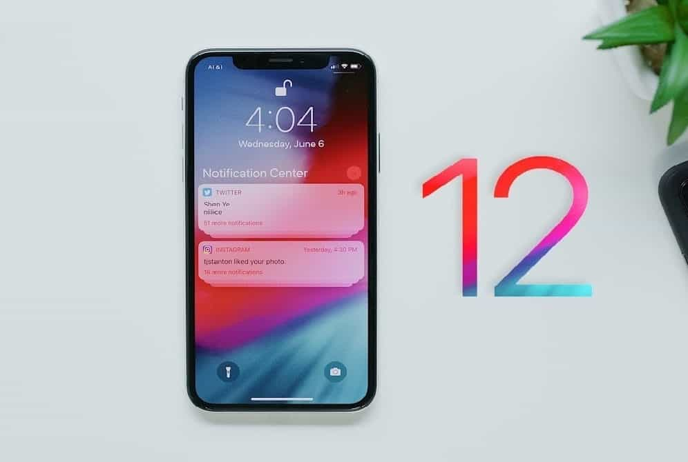 iPhone ios12
