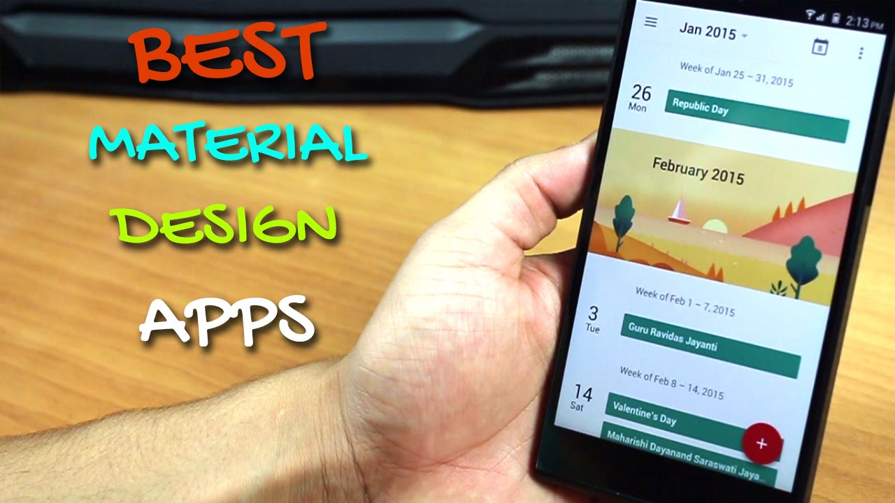 best material design apps