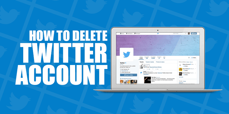 how to delete your Twitter account