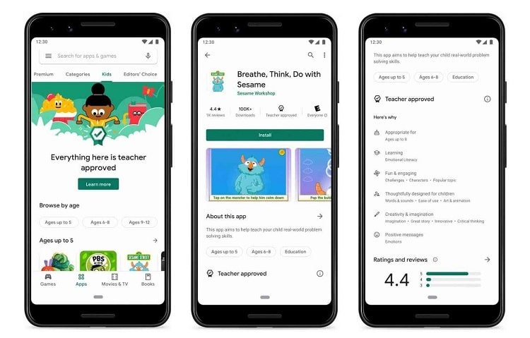 Google launched Kids Section On Play Store