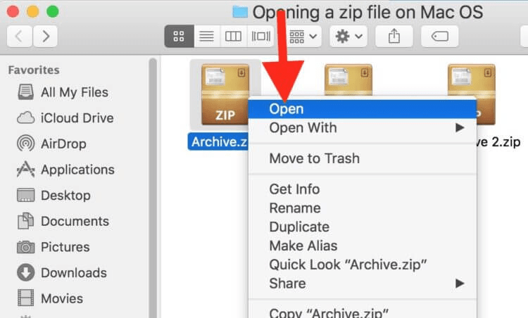 Unable To Expand Zip File on Mac