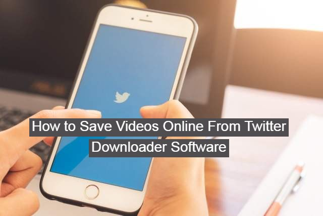 How to Save Videos Online From Twitter Downloader Software