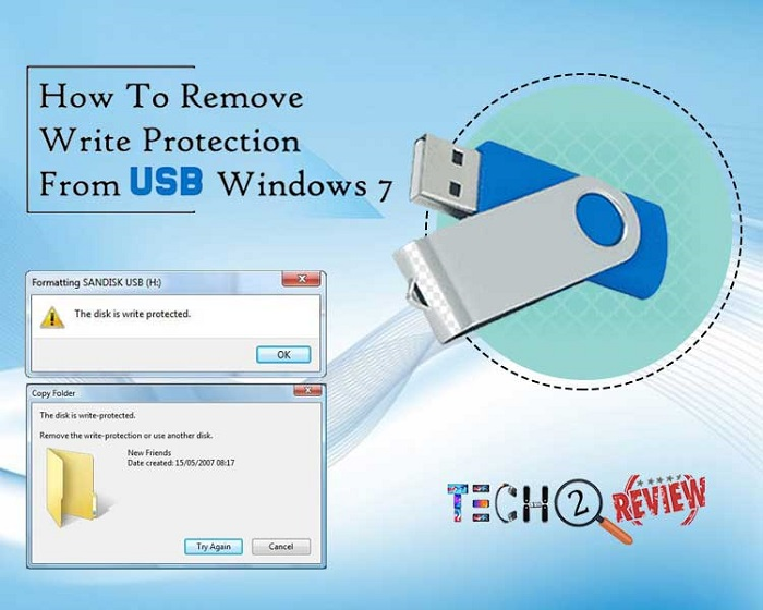 how to remove write protection from USB windows 7
